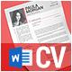 Clean Resume/CV + Business Card Design Templates - GraphicRiver Item for Sale