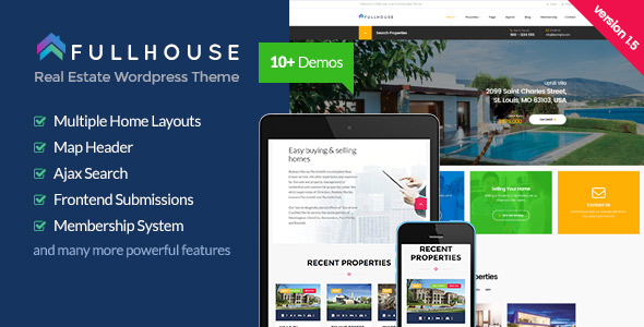 FullHouse - Real Estate Responsive WordPress Theme
