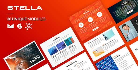 Stella Email-Template + Online Builder