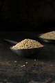 A metal spoon and bowl of sesame seeds - PhotoDune Item for Sale