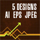 Determined Arrows – Pack of 5 Designs - GraphicRiver Item for Sale