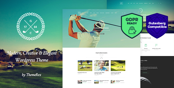 N7 | Golf Club & Course Sports & Events WordPress Theme