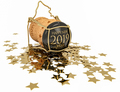 happy 2019 chmpagne stopper, 3d illustration - PhotoDune Item for Sale