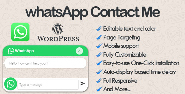 WhatsApp Contact Me - WhatsApp Chat wordpress Plugin