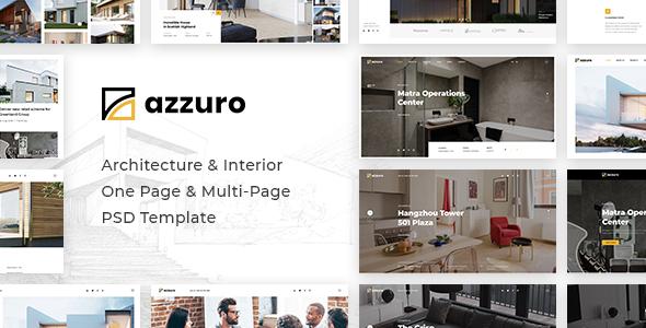 Azzuro | Architecture & Interior PSD Template