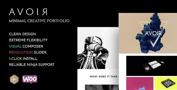 Avoir - Minimal Creative Portfolio WordPress Theme