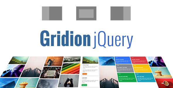 Gridion jQuery - Responsive Bootstrap Grid Gallery Download