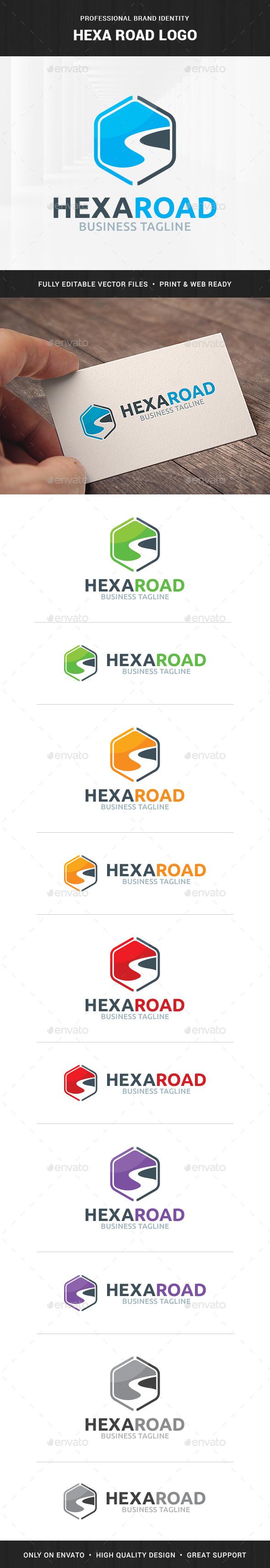 Hexa Road Logo Template