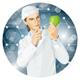 Doctor Does GMO Modification to an Apple - GraphicRiver Item for Sale