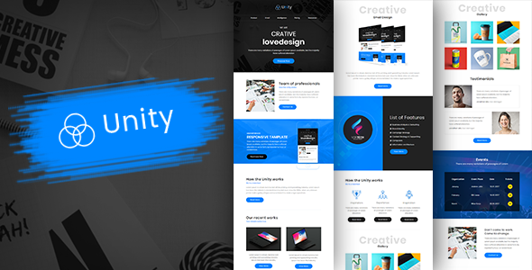 Unity-Multipurpose Responsive Business Email Template + Builder