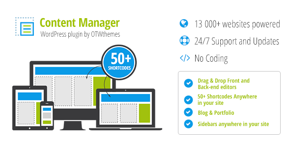 Content Manager for WordPress Download