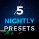 5 Lightroom Presets - Nightly Pack (+Mobile Version) - GraphicRiver Item for Sale