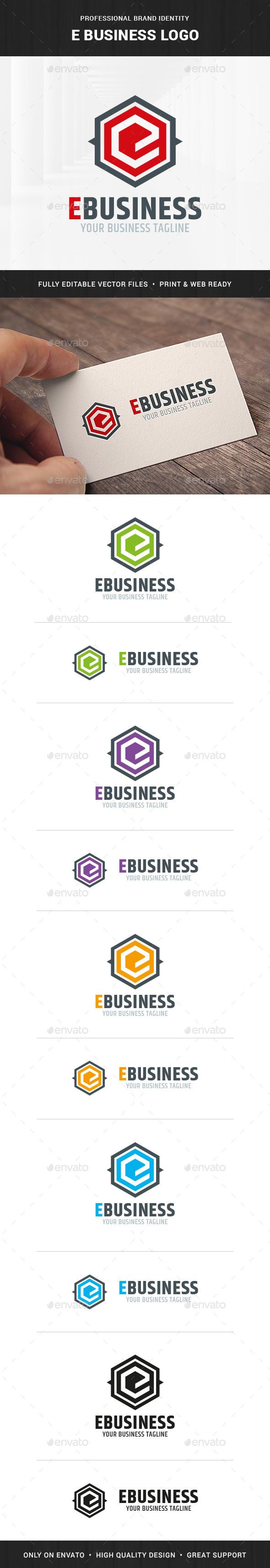 E-Business - Letter E Logo Template