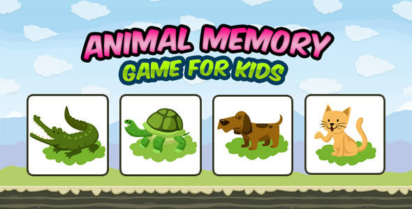 Animal Memory Game for Kids