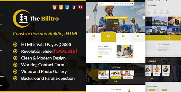 The Billtro - Construction HTML Template