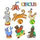 Circus Cartoon Icons - GraphicRiver Item for Sale