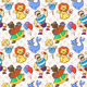 Doodle Seamless Circus Pattern - GraphicRiver Item for Sale