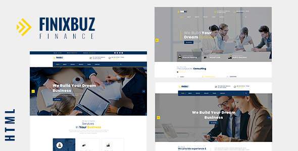 Finixbuz – Corporate & Financial Business HTML5 Template