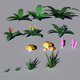 Low Poly Plants Pack - 3DOcean Item for Sale