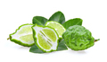 Fresh Bergamot fruit with leaf isolated on white background - PhotoDune Item for Sale