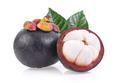 mangosteen sweet fruit isolated on white background - PhotoDune Item for Sale