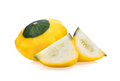 patty pan patisson squash on white background - PhotoDune Item for Sale