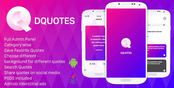 Quotes Android App with Admin Panel Download