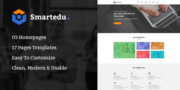SmartEdu | Education & Courses PSD Template