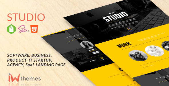 Studio – Portfolio, Creative, Corporate, Business Landing Page