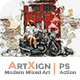 Artxign - Modern Mixed Art   PS Action - GraphicRiver Item for Sale