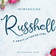 Russhell a sweet lettering font - GraphicRiver Item for Sale
