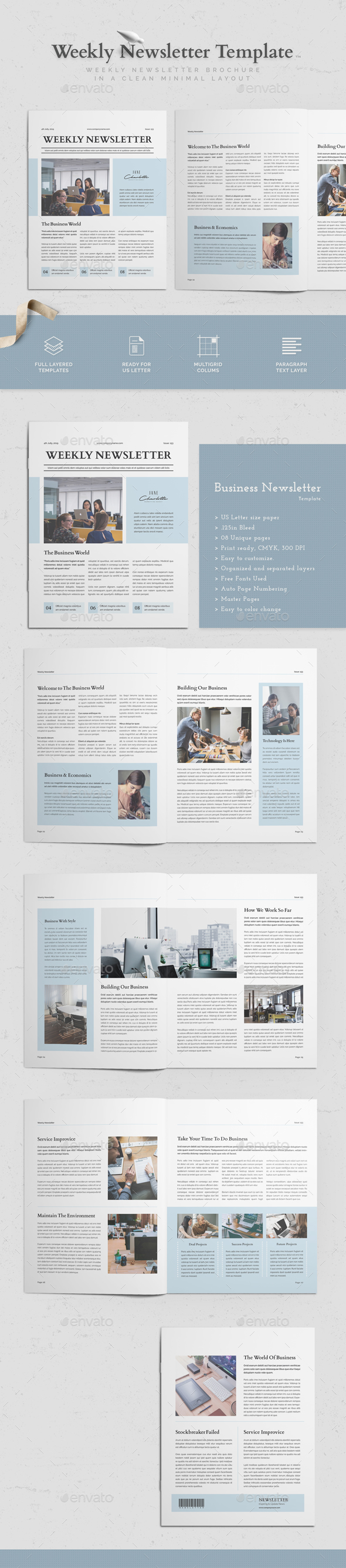 graphic regarding Printable Newsletter Template named Publication Templates in opposition to GraphicRiver