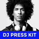 Modern DJ Press Kit / Rider / Resume PSD Template - GraphicRiver Item for Sale