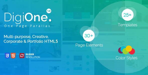 DigiOne – One Page Parallax