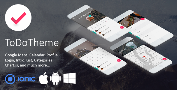 ToDo Theme - Elegant Multipurpose Ionic 3 Template Download