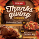 Thanksgiving Restaurant Menu Flyer - GraphicRiver Item for Sale
