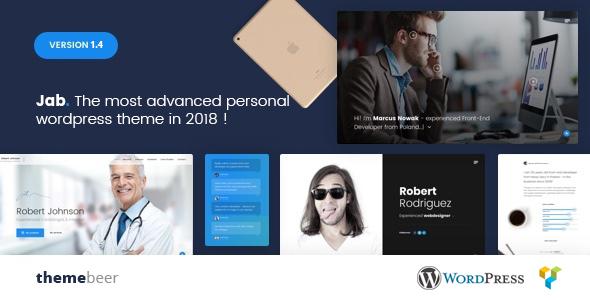 Jab - Advanced Personal Resume / CV vCard Theme