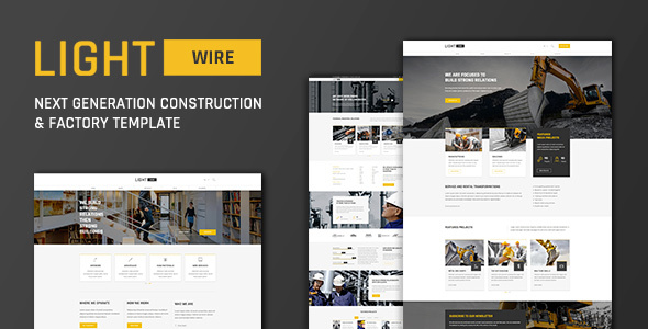 Lightwire - Construction and Industry | The Construction Template