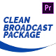 Clean Broadcast Pack | Essential Graphics | Mogrt - VideoHive Item for Sale