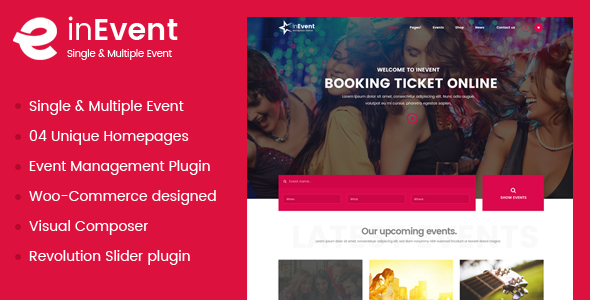 InEvent   Multi-Purpose for Conference Management WordPress Theme