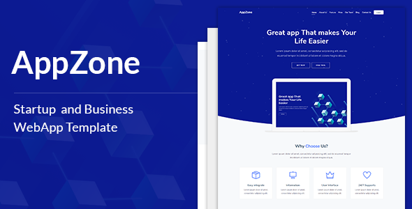 AppZone - Startups Business & WebApp Template