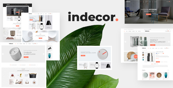 Indecor – Furniture eCommerce Bootstrap 4 Template