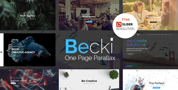 Becki – Creative Parallax One Page HTML Template