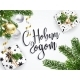 Christmas White Greeting Card with Russian Text - GraphicRiver Item for Sale