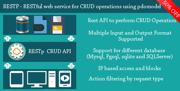 RESTp - RESTful web service for performing CRUD operations using PDOModel Download