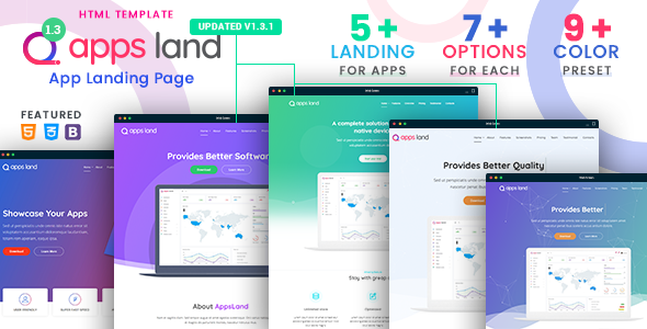 App Landing Page Templates from ThemeForest