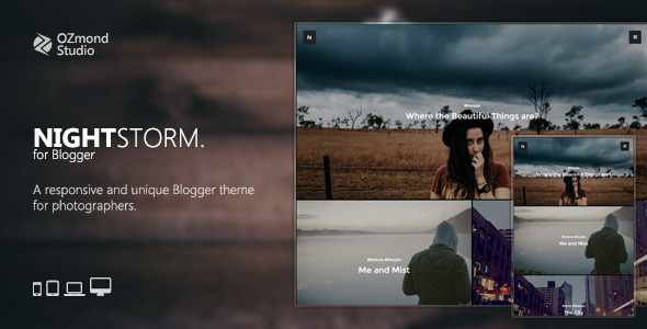 NightStorm: A Responsive & Unique Blogger Theme for Photographers
