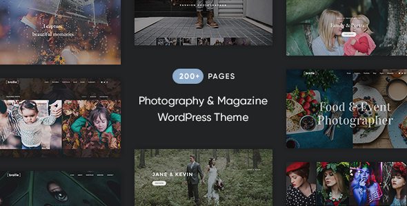 Brailie Responsive Photography WordPress Theme