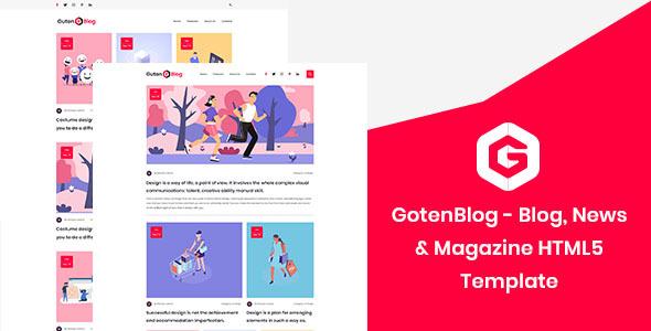 GotenBlog – Blog, News & Magazine HTML5 Template