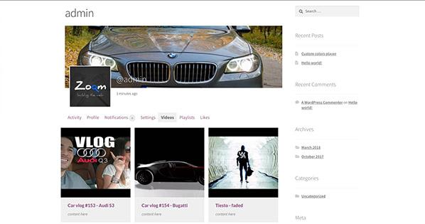 Easy Video Player WordPress video plugin